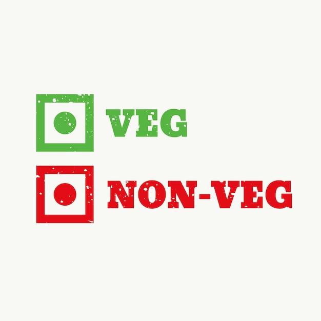 野菜とnonveg看板 無料ベクター