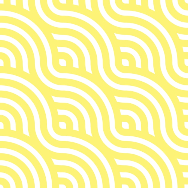 Noodle seamless pattern. yellow waves. abstract wavy background.   illustration. Premium Vector