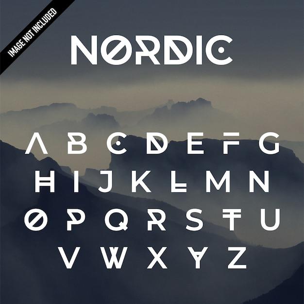 Nordic alphabet design Premium Vector