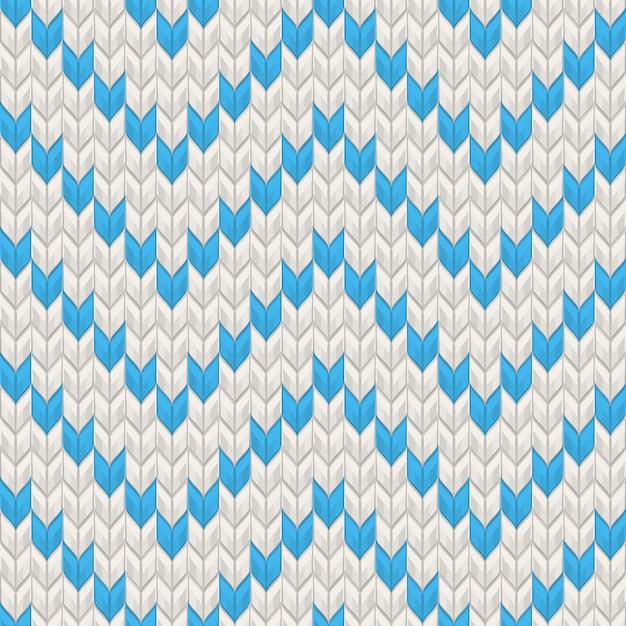 Nordic трикотажные текстуры синий на белом бесшовные шаблон. а также включает в себя Premium векторы