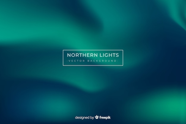 Northern lights background and copy space Free Vector
