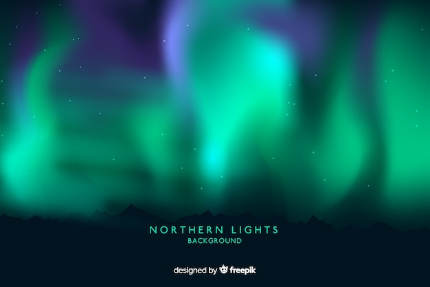Northern lights background Free Vector