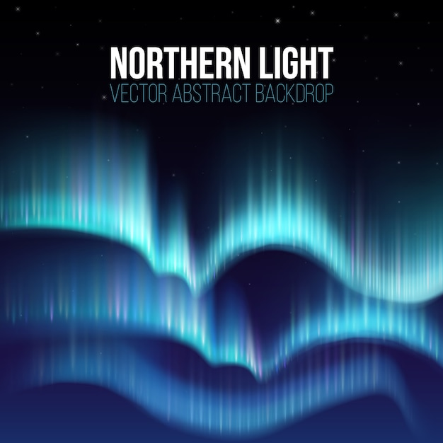 Northern lights Premium Vector