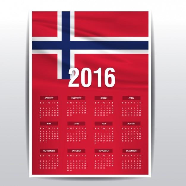 Calendar Norway : Norway calendar of vector free download