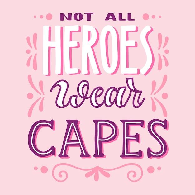 すべての英雄はマントを着用していません 無料ベクター
