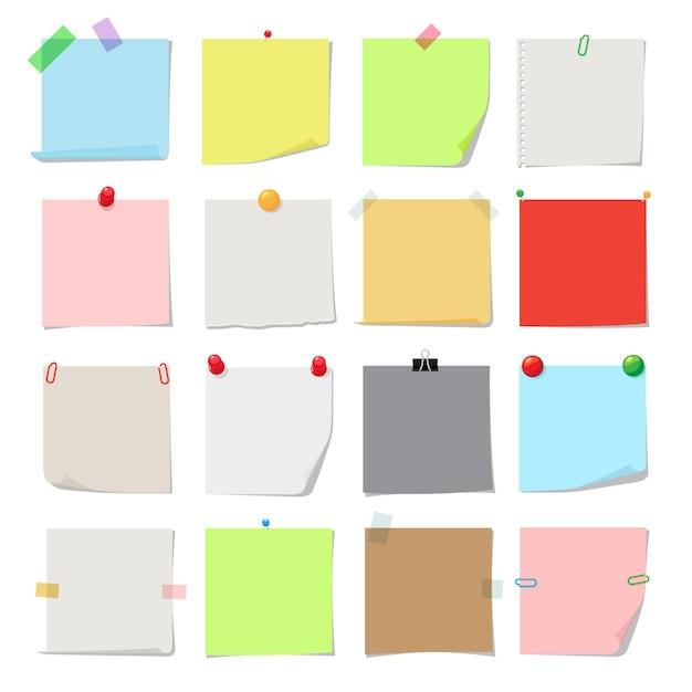 Note paper set Premium Vector