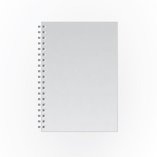 Notebook blank cover Premium Vector