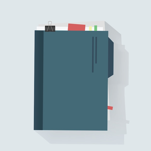 Notebook diary icon vector illustration Free Vector