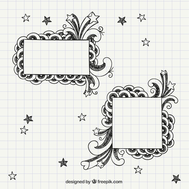 Notebook frames Free Vector