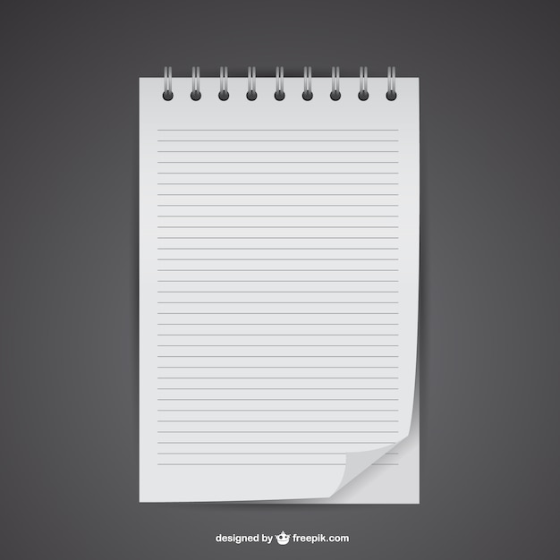 Notebook mockup Free Vector