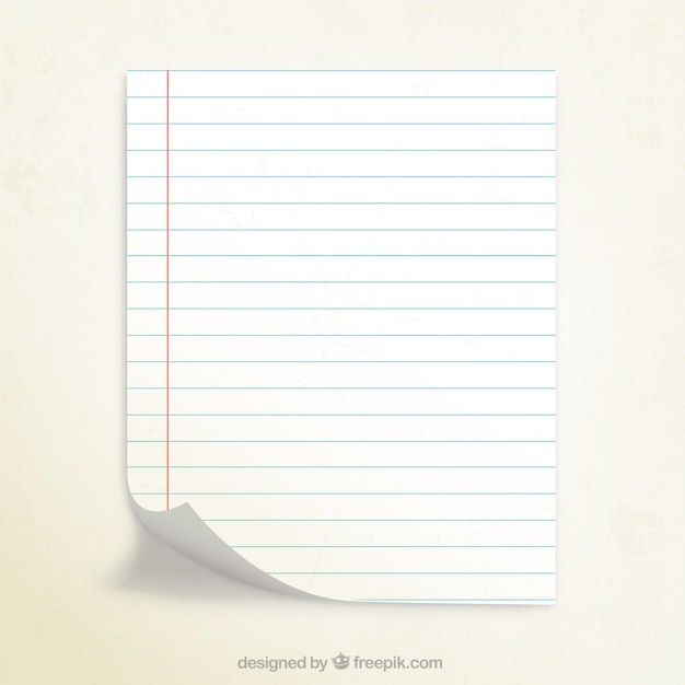 Notebook Paper Vector  Free Download