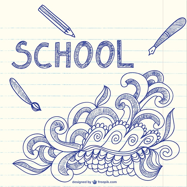 Notebook with school sketchy doodles art Free Vector classrooms Circular Learning Environments as Classrooms notebook with school sketchy doodles art 23 2147496286