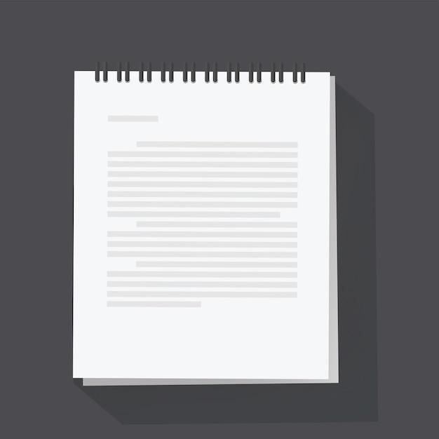 Notepad sheet vector illustration Premium Vector