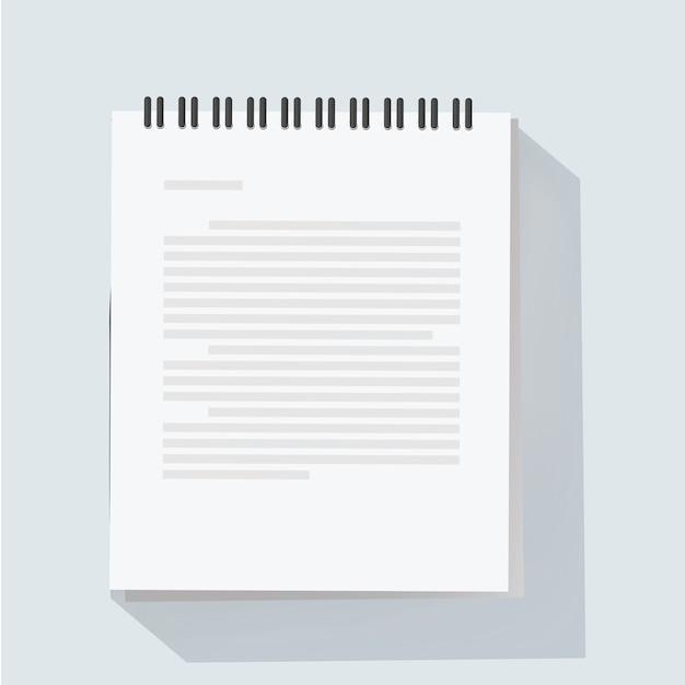 Notepad sheet vector illustration Free Vector