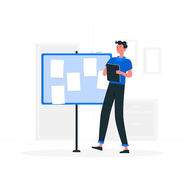 Illustrazione del concetto di note Vettore gratuito