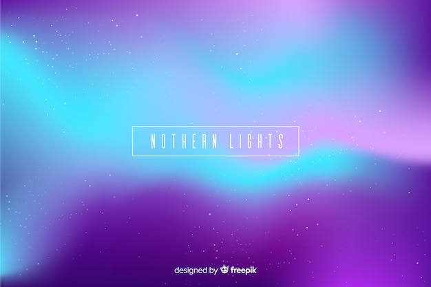 Nothern lights background in purple Free Vector
