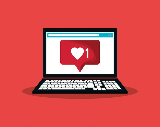 Notification icon in communication related image Premium Vector