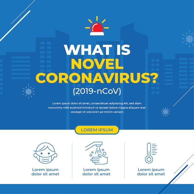 Novel coronavirus campaign banner Premium Vector