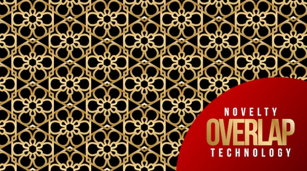 Novelty overlap technology pattern background Premium Vector