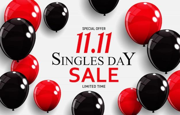 November 11 singles day sale Premium Vector