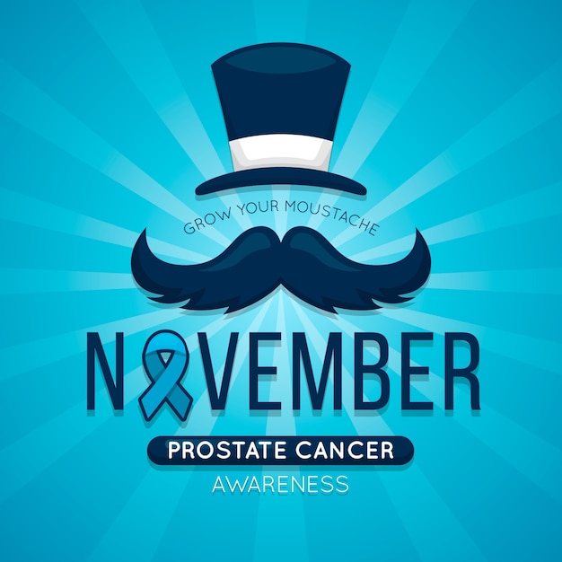 November background with blue ribbon Free Vector