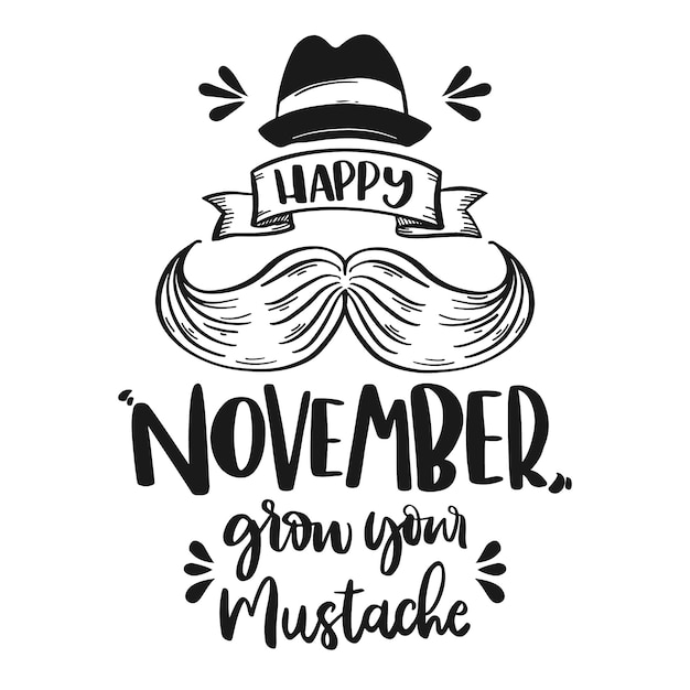 November concept with lettering Free Vector