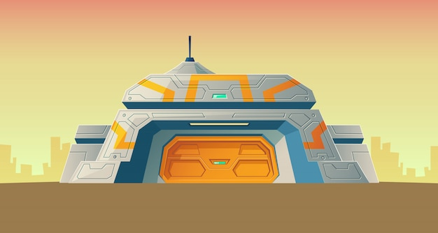 Nuclear secret bunker of scientific laboratory for creation. Free Vector