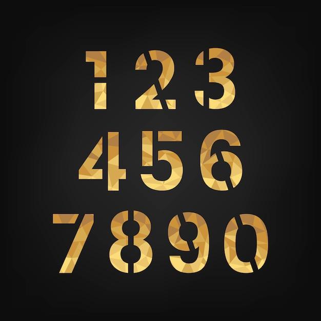 숫자 0-9 숫자 시스템 벡터 무료 벡터