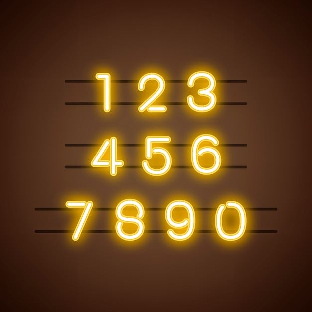 Number 0-9 numeral system vector Free Vector