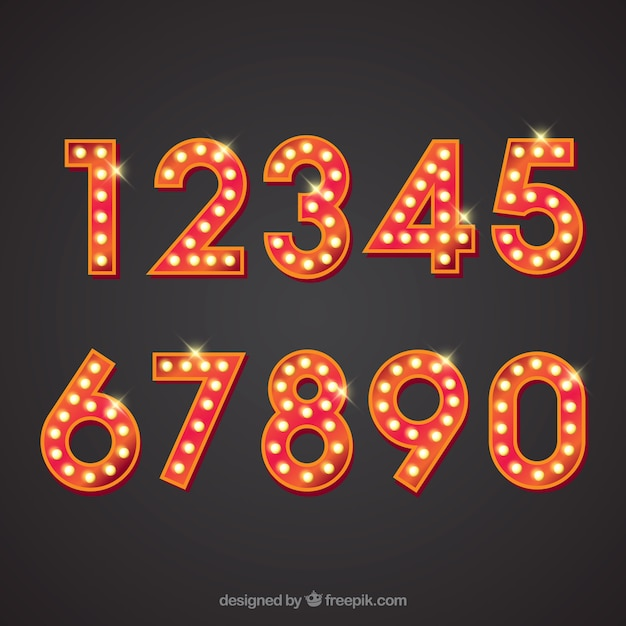 Number collection Free Vector