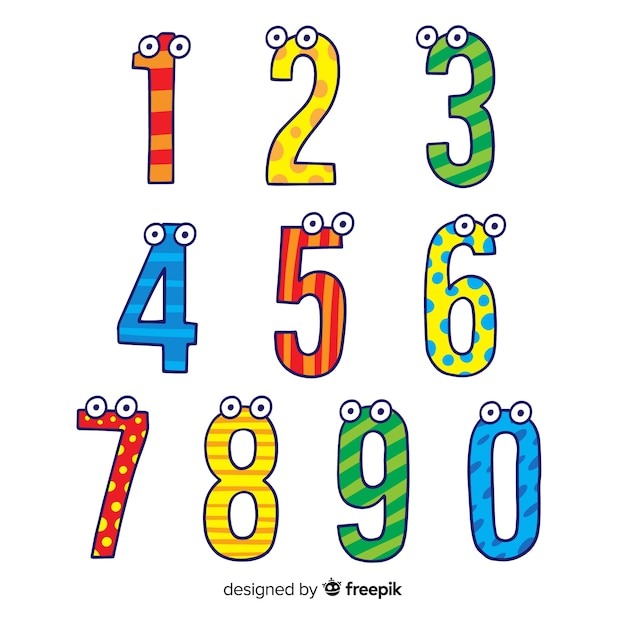Number collection Premium Vector