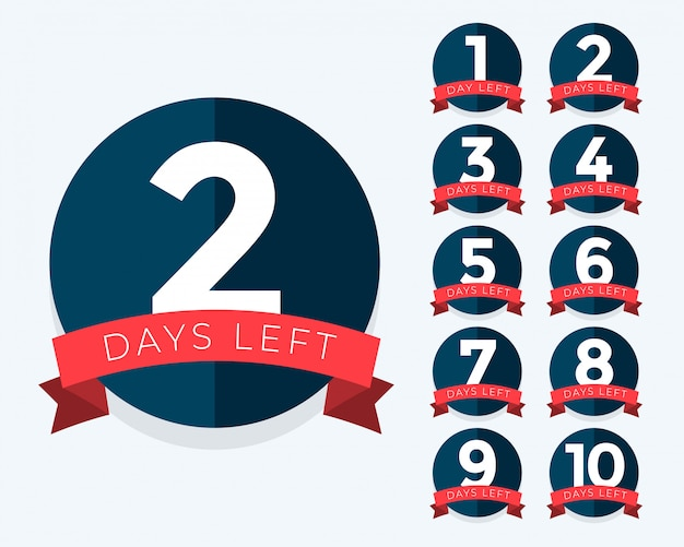 Number of days left badge counter Free Vector