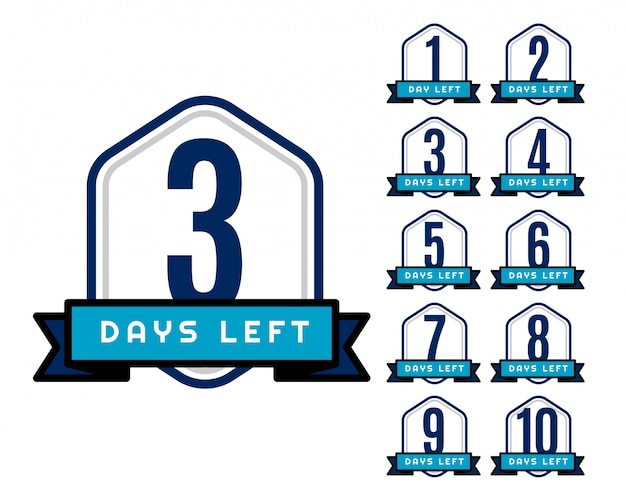 Number of days left countdown timer for sale and promotion Premium Vector