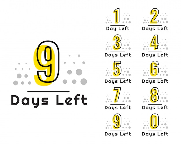 Number of days left countdown timer Free Vector