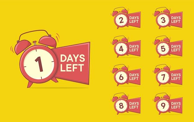 Number days left countdown Premium Vector