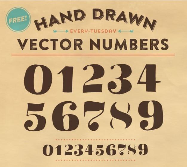 Number fonts vector artwork Free Vector