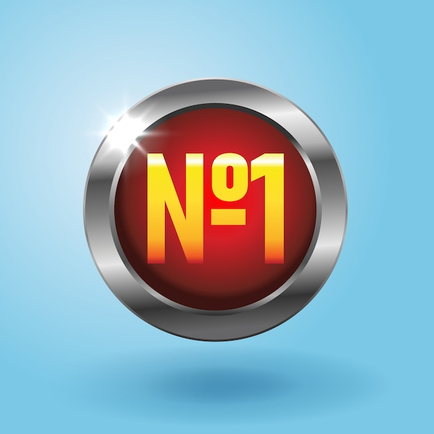 파란색 배경, 최고의 선택 아이콘에 하나의 빨간 버튼. 최고의 가격 배지, 현실적인 스타일의 일러스트 프리미엄 벡터