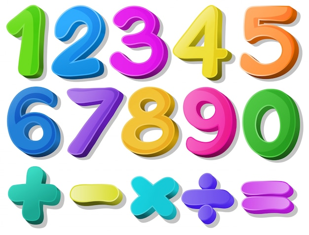 Number Free Vector