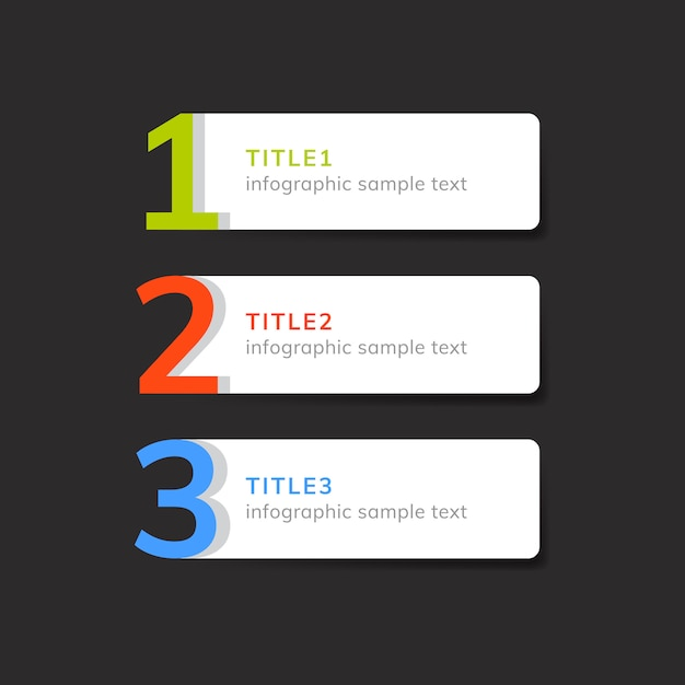 Numbered list business element vector Free Vector