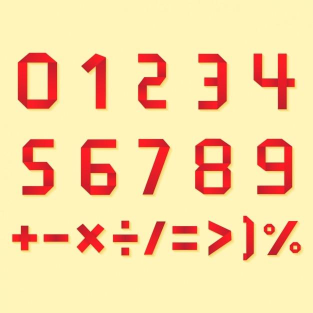 Цифры и символы дизайна Бесплатные векторы