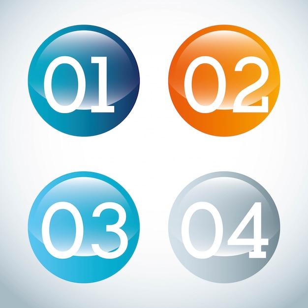 灰色の背景上の数字デザインベクトルイラスト Premiumベクター