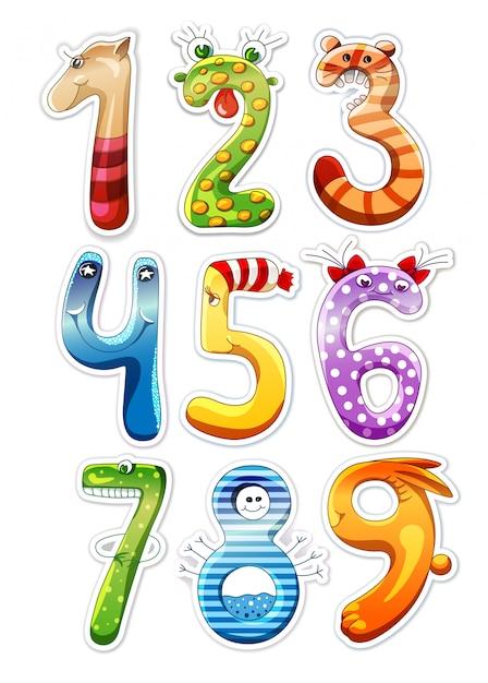 Numbers for kids Premium Vector