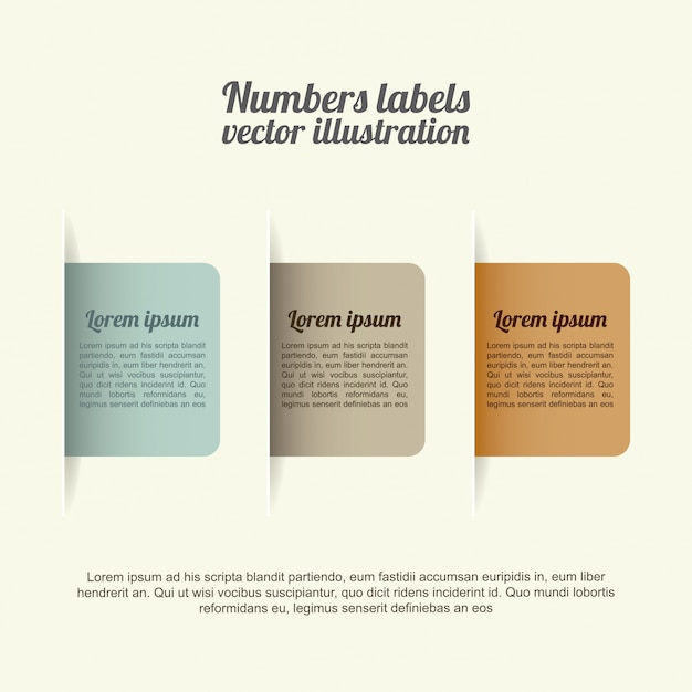Numbers labels over white background vector illustration Premium Vector