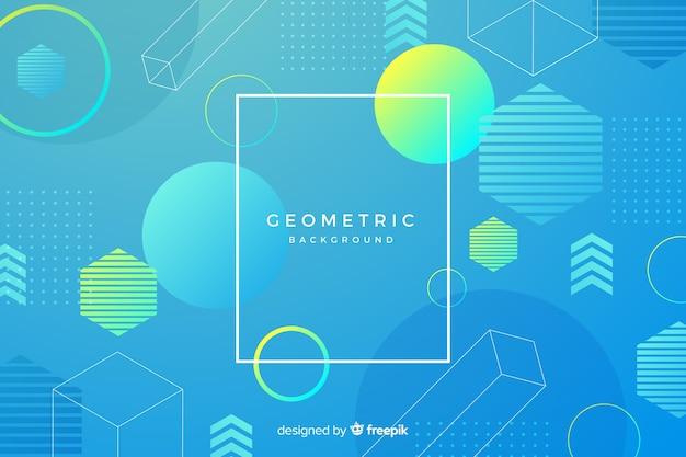 Numerous gradient geometric shapes mixture Free Vector