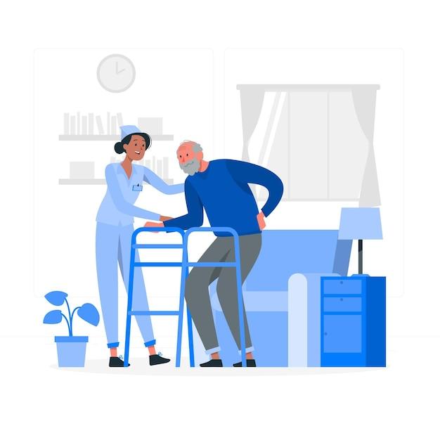 Illustrazione di concetto di casa di cura Vettore gratuito