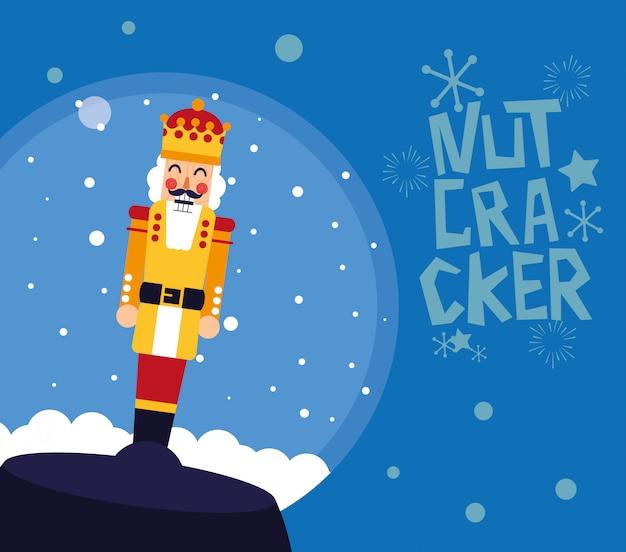 Nutcracker king in crystal ball Premium Vector