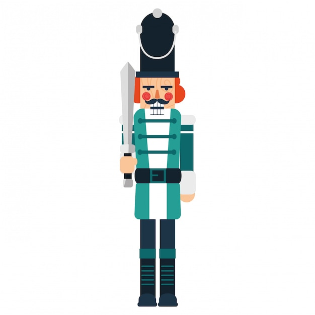 Nutcracker toy design Premium Vector