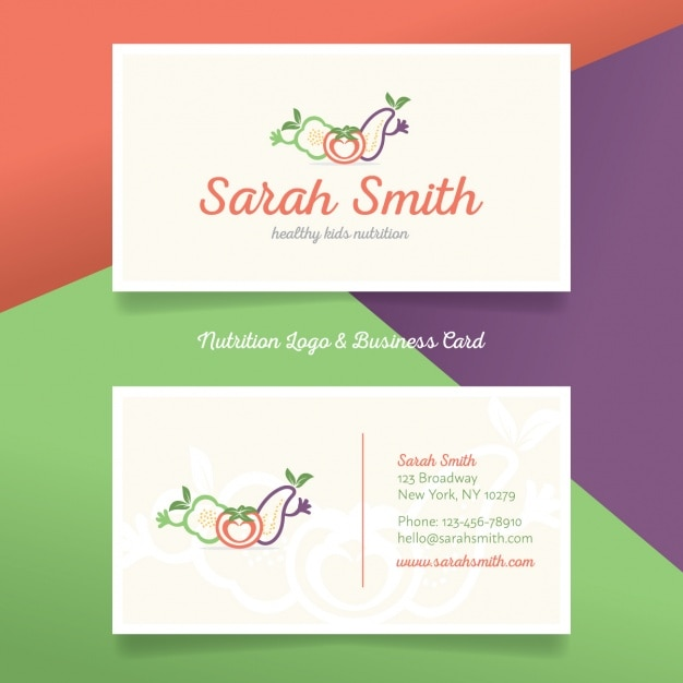 Nutrition logo and business card vector free download nutrition logo and business card free vector colourmoves