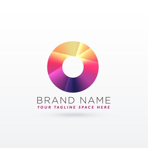Абстрактная буква o или дизайн кругового логотипа Бесплатные векторы