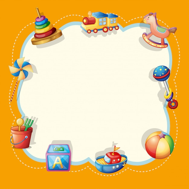 Object on cute border Free Vector
